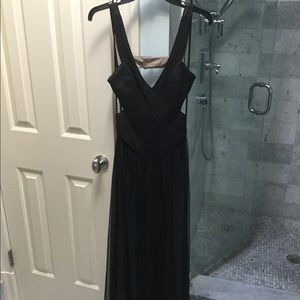 Brand New BCBG Black & Nude Tulle Gown, size 2